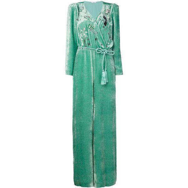 Vivetta Mint jumpsuit ($1,092) ❤ liked on Polyvore featuring jumpsuits, green, jump suit, mint green jumpsuit, green jumpsuit, mint jumpsuit and vivetta