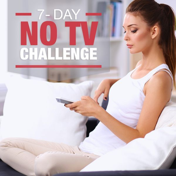 Old habits die hard, but put more life in your life by daring to take the 7 Day No TV Challenge. You might just like having the extra time! #notv #quittv #healthychallenges