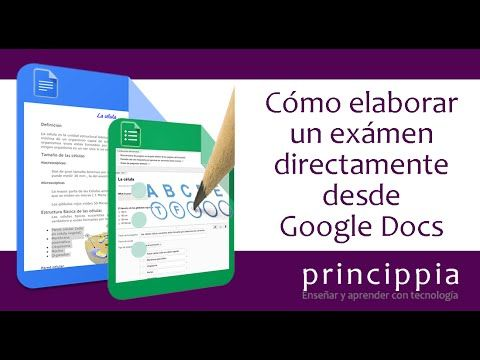 YouTube Crear exámenes con Google docs