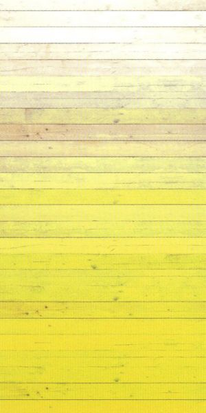 Yellow ombre wallpaper looks like painted wood, by Eijffinger Degrado Amarillo (330283)