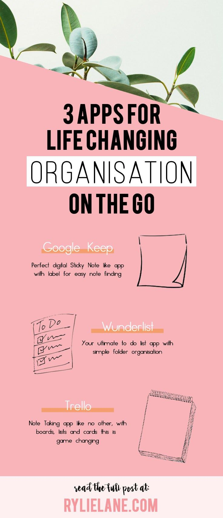 Feeling all over the place? Your life is completely unorganised? Here are the 3 best apps to stay organised, whether your on the go, at work, at school or just simply at home! Organization is key to a happy and fulfilled life