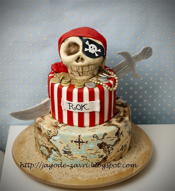 Cutest pirate cake I have ever seen!  Love it!