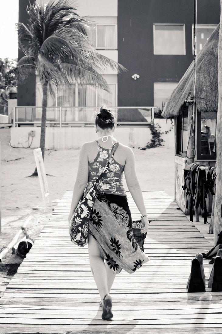 Walking the Pier by *jclossphoto - my photo from Cancun  http://www.jclossphoto.com