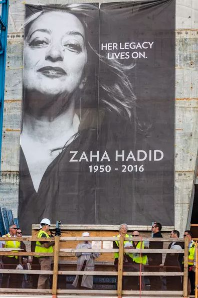 "Zaha Hadid remembered at the construction site of ""One Thousand Museum"" in Miami, the same city where she passed away on March 2016."
