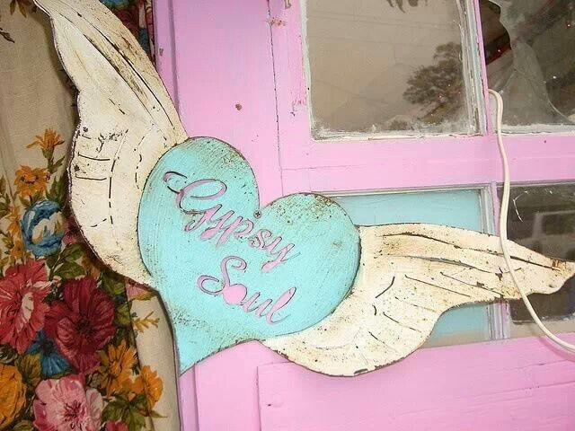 Gypsy Aqua Heart & Soul With Wings,..♥ ❤ ❥ ❣ ❦ ❧