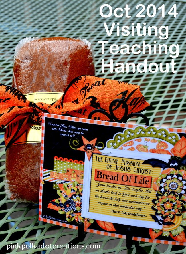 October 2014 Visiting Teaching Handout | Pink Polka Dot Creations