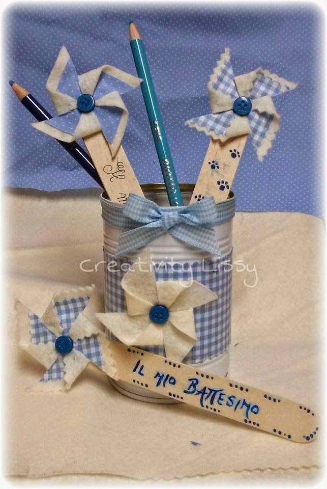 Creativity Lissy: Idee battesimo: girandole segnaposto!