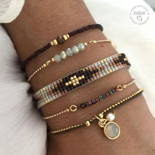 Beads-armbandje 'Enchanted Forest' - Mint15