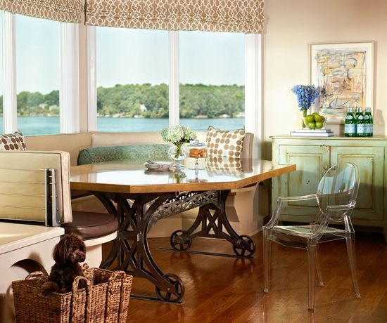 Traci Zeller Designs Lakefront Breakfast Room Residential Interior