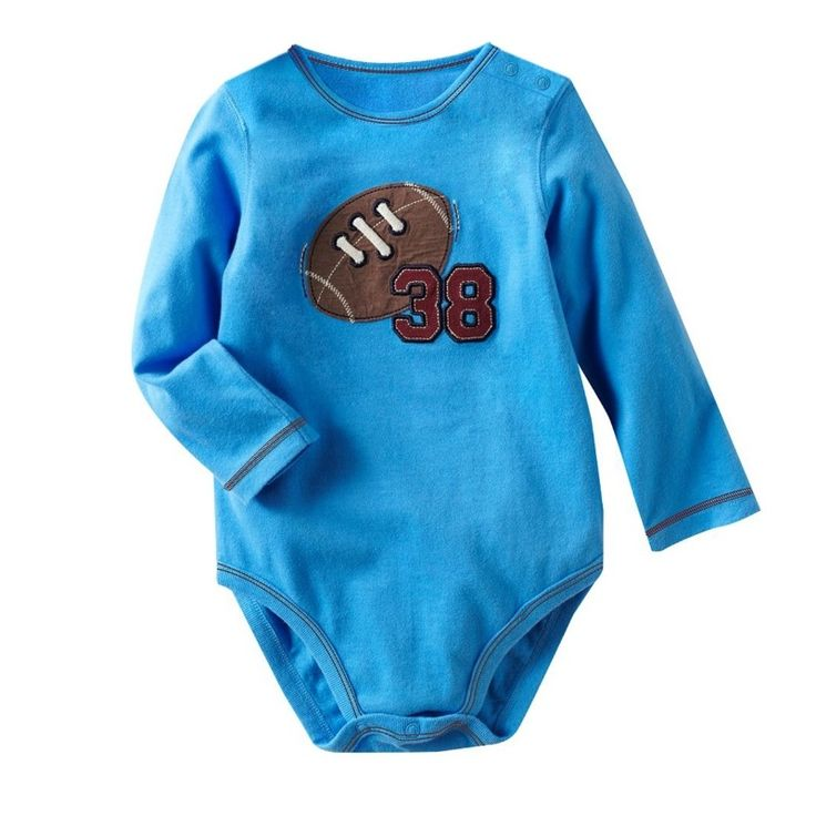 American Football Baby Boys Bodysuits Blue Fashion Baby clothes wholesale mix color and size 120pcs/lot