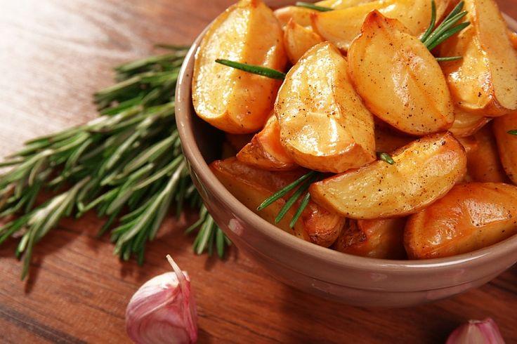 Запеченный картофель в медово-горчичном соусе