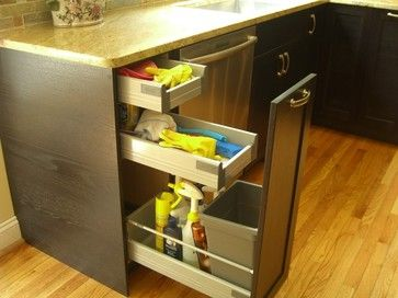 I Love The Storage Drawers Over The Pull Out Trash Can.