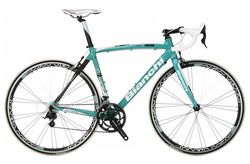 Picture Bianchi road bikes are a popular choice thanks to the brand reputation and company history. As one of the oldest bike manufacturers in the world - they have been in business since 1885 - Bianchi have been responsible for a lot of todays technology which includes the standard caliper front wheel brake system that many of todays bikes use and using equal sized wheels.
