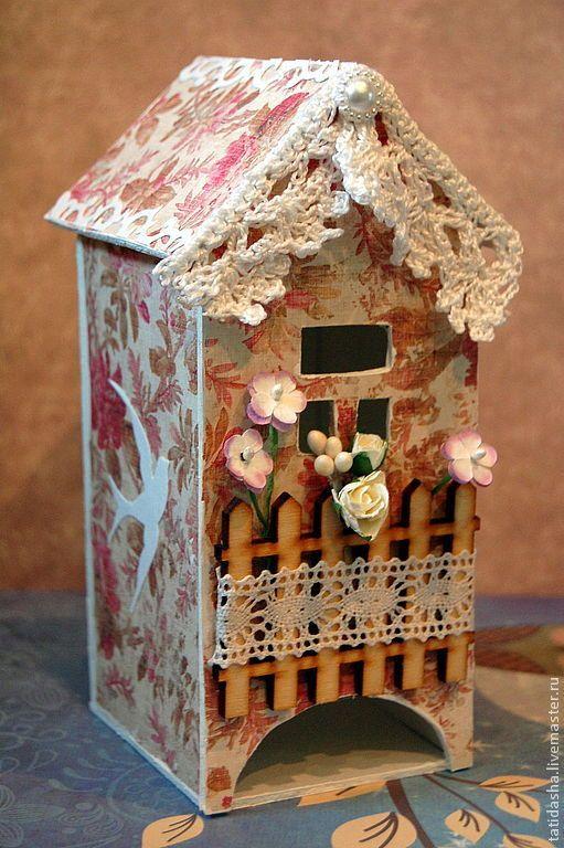 """Купить Чайный домик """"Рассвет"""" - бледно-розовый, чай, чайный домик, чайный короб"""