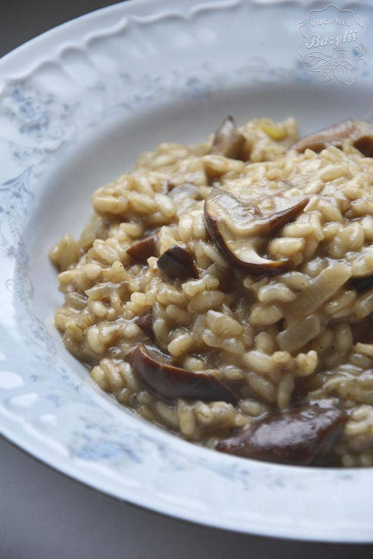 Risotto grzybowe   Kuchnia Bazylii