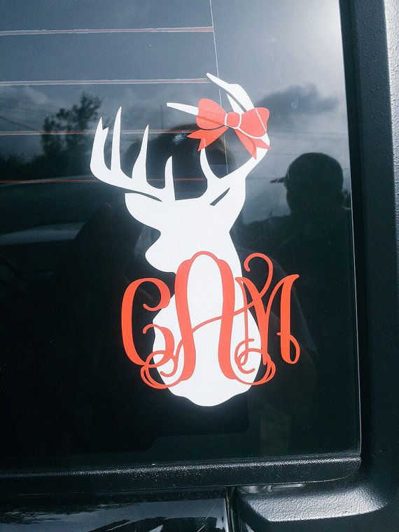 Hey, I found this really awesome Etsy listing at https://www.etsy.com/listing/194112040/deer-head-car-decal-vinyl-decal-car