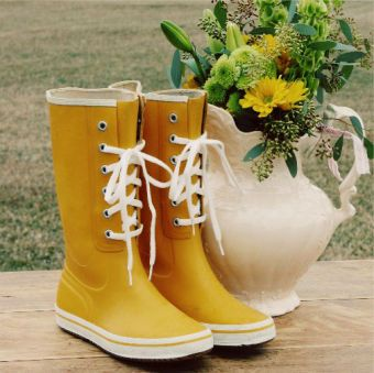 Vintage Yellow Mud Boots