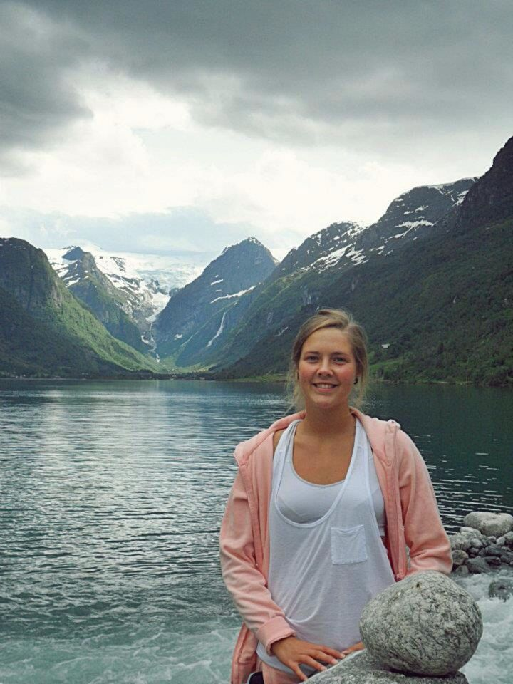 Olden, Norway. So beautiful there ! In the back is briksdalsbreen- a glacier :-)