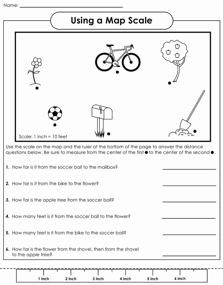 50 Using A Map Scale Worksheet In 2020 Map Worksheets Teaching