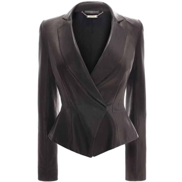 Peplum Leather Jacket Alexander McQueen | Leather | Jackets Coats |