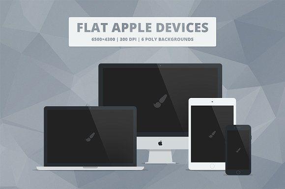 Flat Responsive Apple Web Mockups by Mattias on @creativemarket