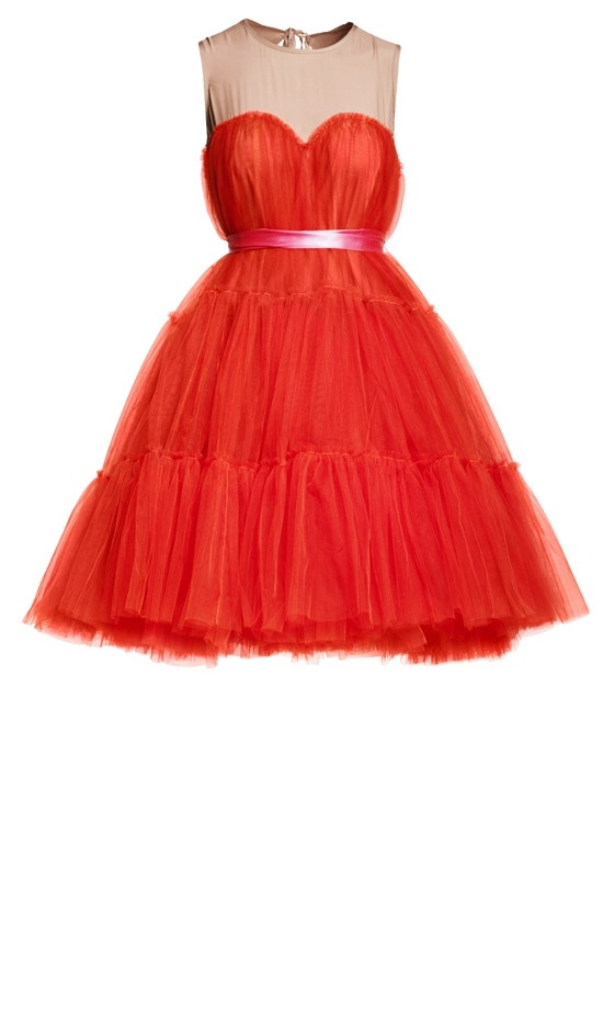 Gorgeous red tulle Lanvin dress (designed for H&M).