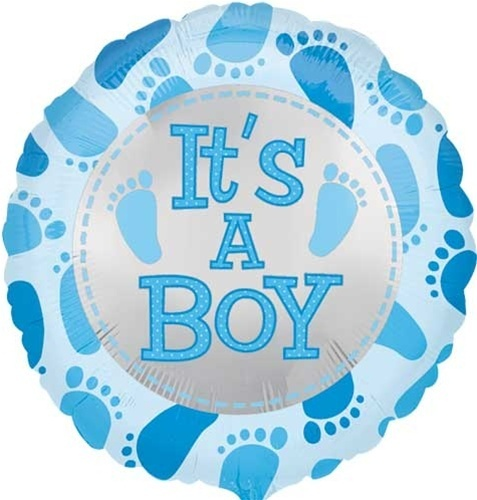 18 it 39 s a boy baby feet blue mylar balloons shower for Baby feet decoration