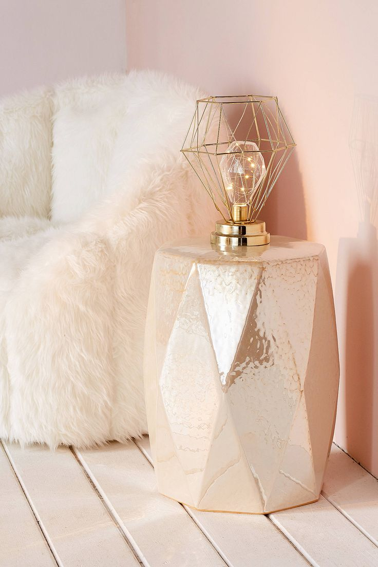 Slide View: 1: Serena Geo Caged Table Lamp