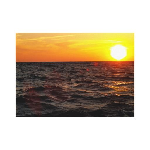 Sunset @ 60 Miles Out Canvas Print