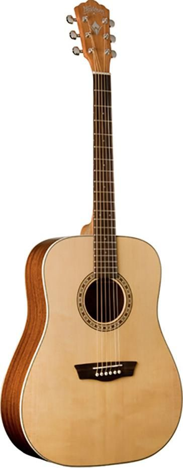 Washburn WD7S.  The WD7S shows the company's design philosophy in action, featuring elegant body binding and custom wood inlaid rosette that makes the guitar look far more expensive than its actual price.