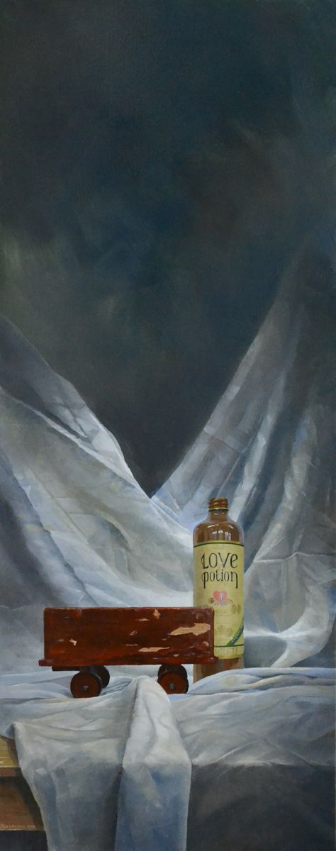 Love Potion 125 X 50 cm.  oil on linen