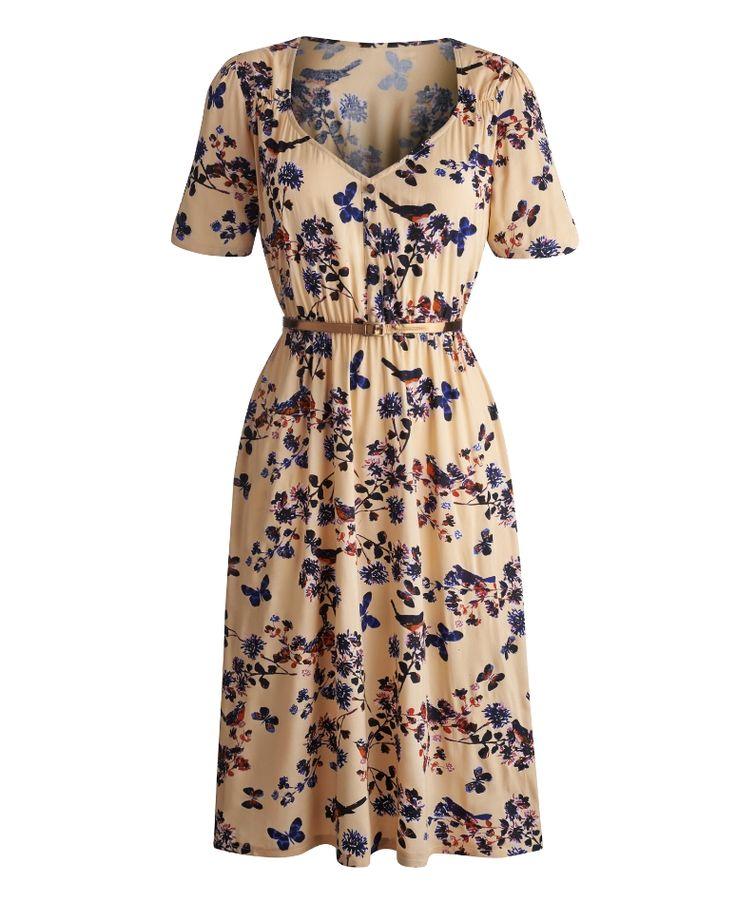 Claire Richards Print Tea Dress