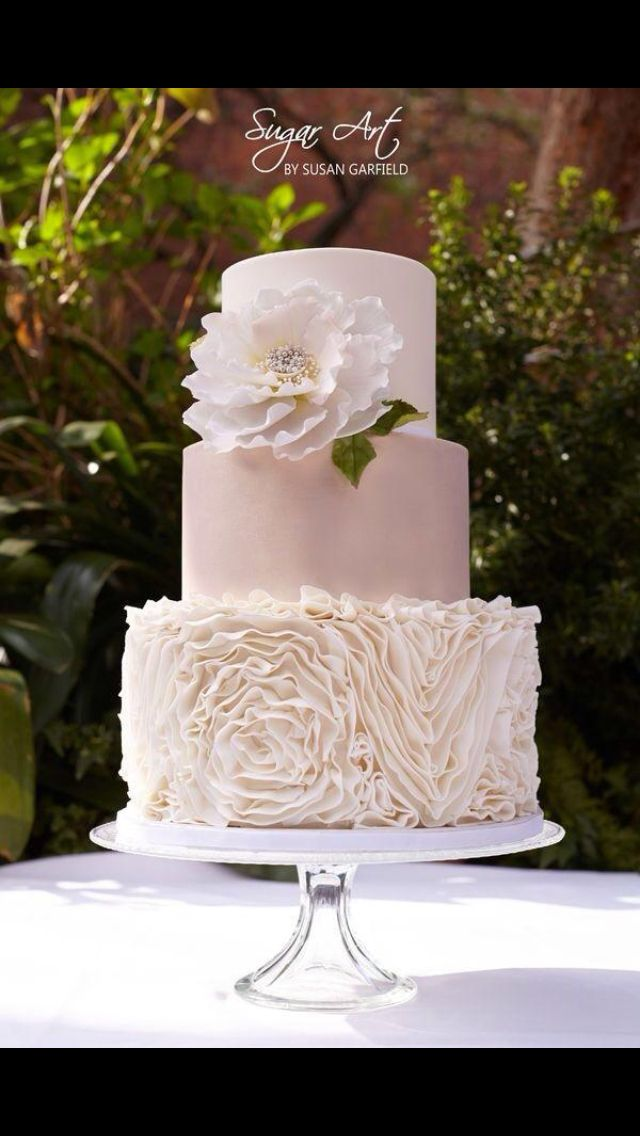 wedding cake in white please <3