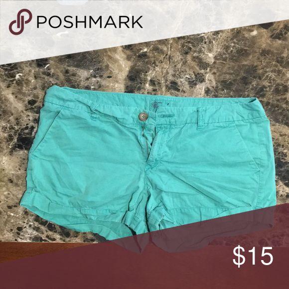 American Eagle teal shorts size 14 Cute comfortable summer shorts American Eagle Outfitters Shorts