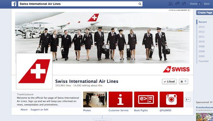 Nicht sicher, ob das als Schweizer Seite durchgeht. SWISS International Airlines zeigt Events, Angebote, via Instagram auch spannende Blicke hinter die Kulissen. Sauber aber unspektakulär (mehr würde gehen).