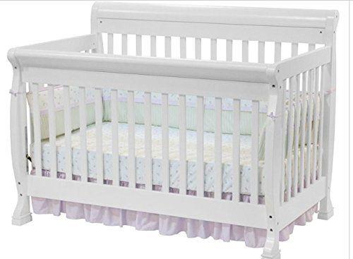 Kalani 4 in 1 Convertible Crib in White By Da Vinci Baby Furniture