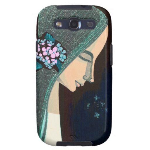 Flower Ornament oriental japanase kawaii girl art Samsung Galaxy S3 Covers