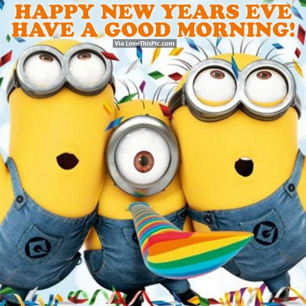 Happy New Year's Eve, Good Morning! new years good morning new year happy new year new years quotes new year quotes new years eve minion quotes happy new years eve happy new years quotes happy new year 2016 2016 2016 quotes quotes for the new year new years sayings quotes for new years eve new years eve good morning new years eve good morning quotes