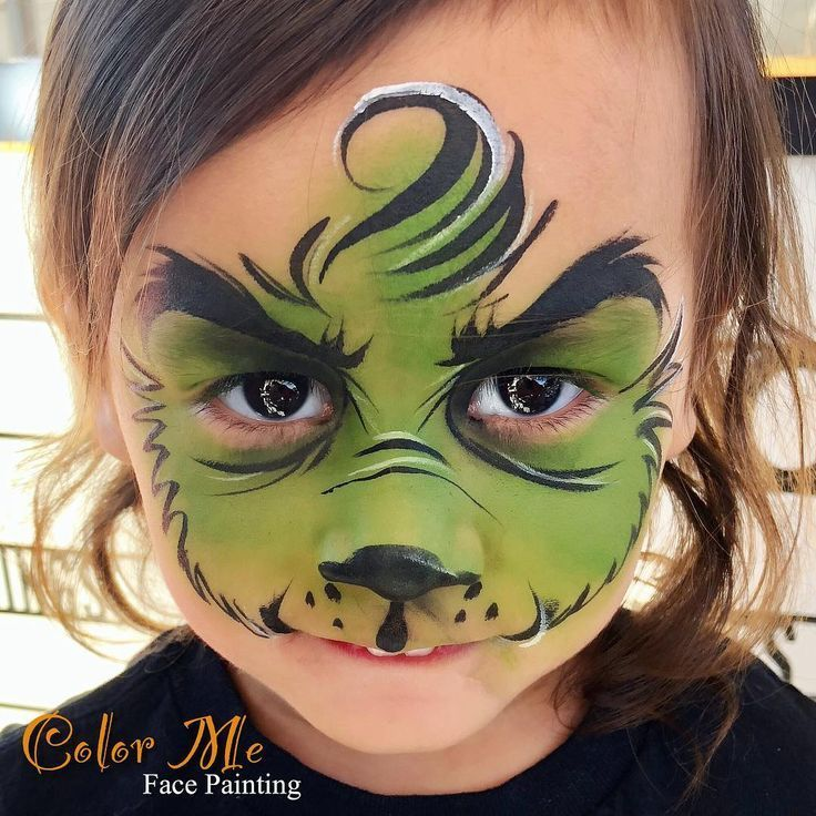 How to paint a The Grinch Who Stole Christmas face. #thegrinch #HowtoFacePaint
