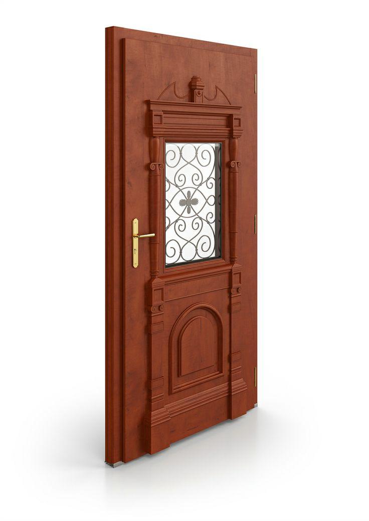 dřevěné vchodové historické dveře REPLIK | wood entry historical door REPLIK