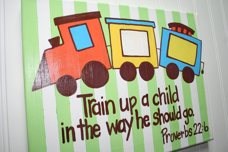 Train Up A Child Proverbs 22 6 Custom Bible Verse Wall
