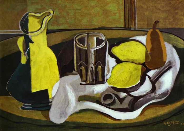 "Georges Braque ""Lemons"" 1929 Oil on canvas, private collection"