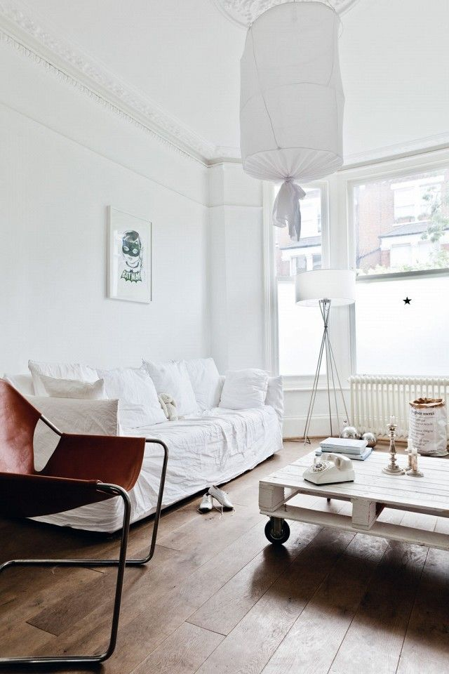 See Inside A Bright White London Flat