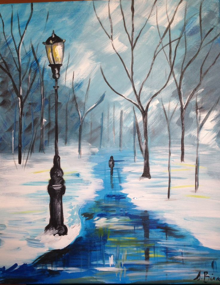 Easy Winter Painting Ideas Download