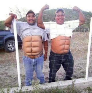 "These guys are ""on the fence"" about joining the 6-Week Health Challenge because they've got another plan that helps them get abs. If you want to get healthy and ""get off the fence"", comment below and I'll share the details about our 6 Week Health Challenge."