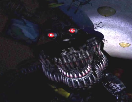 Interesting to note: Nightmare is slightly transparent! You can barely make out a brain in the center of his head!