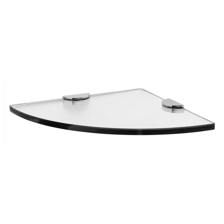 """Ginger 0218CT-10-10 3/8"""" Tempered Glass Corner Tray from ... on Corner Sconce Shelf Tray id=94917"""