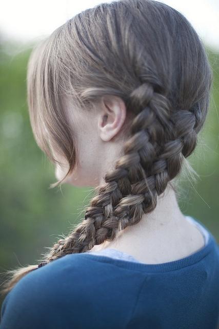 mermaid tail braid make two side braids two three strand