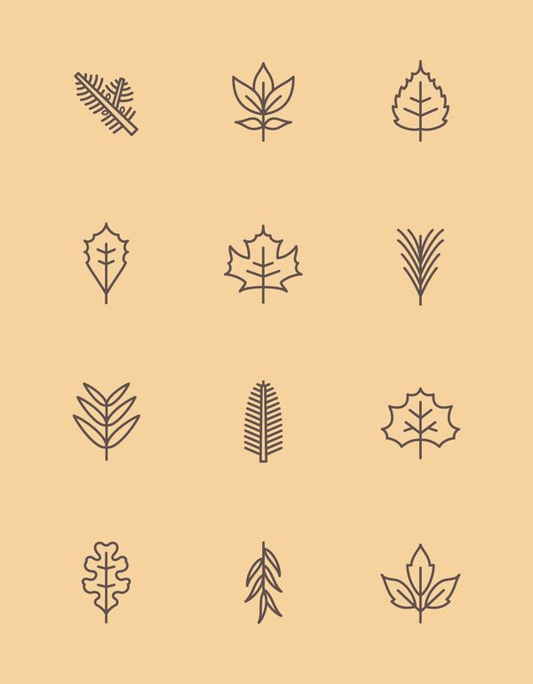 New York State Leaf Pictograms | James McDonough