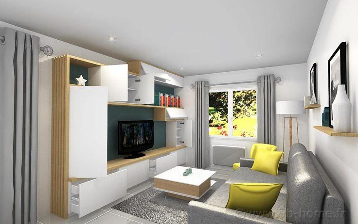 coin salon, meuble tv sur-mesure